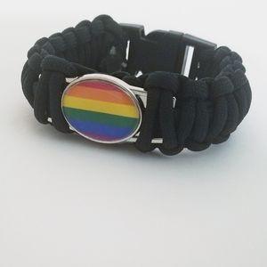 LGBT Gay Pride Flag Charm Bracelet